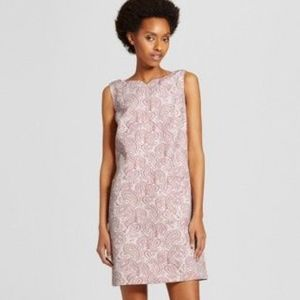 Victoria Beckham Target Pink Print Shift Dress M